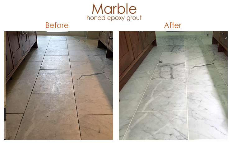 Marble honed epoxy grout
